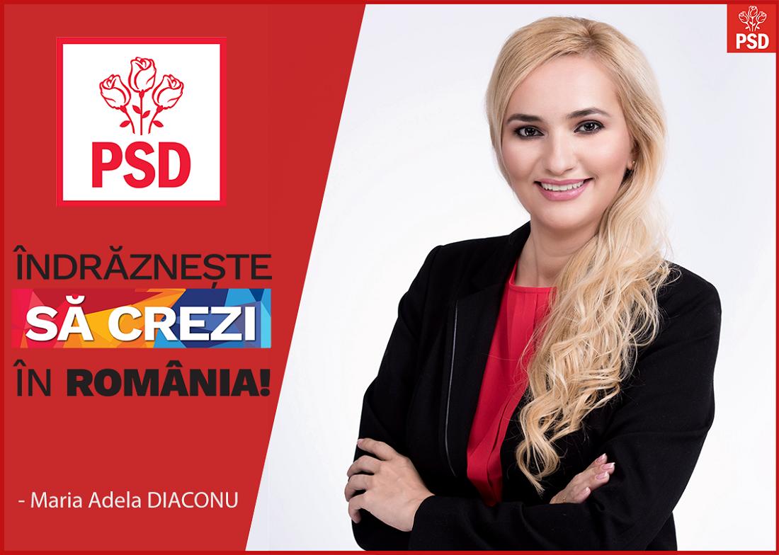 E oficial: Adela Diaconu va candida la Senat din partea PSD Brasov