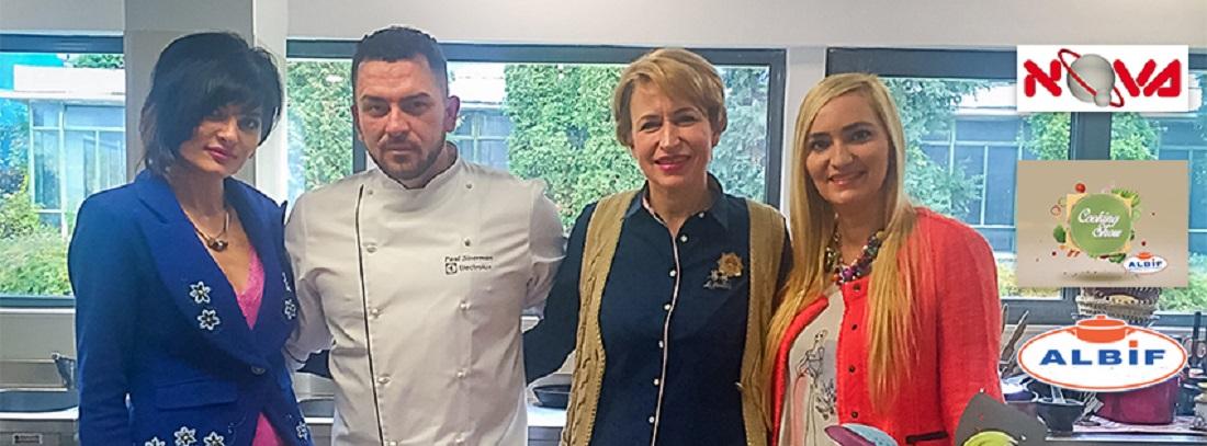"""Emisiunea """"Cooking Show Albif"""" produsa de Adela Diaconu il aduce brasovenilor pe Chef Paul Siserman"""
